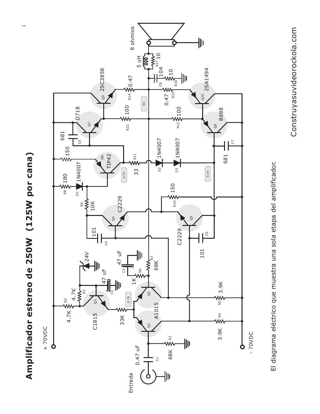 1 Amplificador Estereo De 250w 125w Por Cana 70vdc R2 Audio Tone Balance Circuit Page 7 Circuits Nextgr