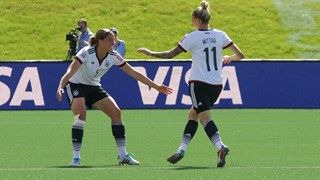 Anja Mittag 11 Of Germany Celebrates Her Goal With Team Mate Annike Krahn Fifa Women S World Cup Women S World Cup World Cup