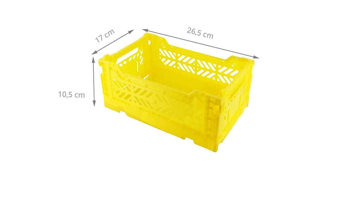 Mini Cagette En Plastique Blanc Empilable Et Pliable Rangement Cuisine Cagette Et Rangement