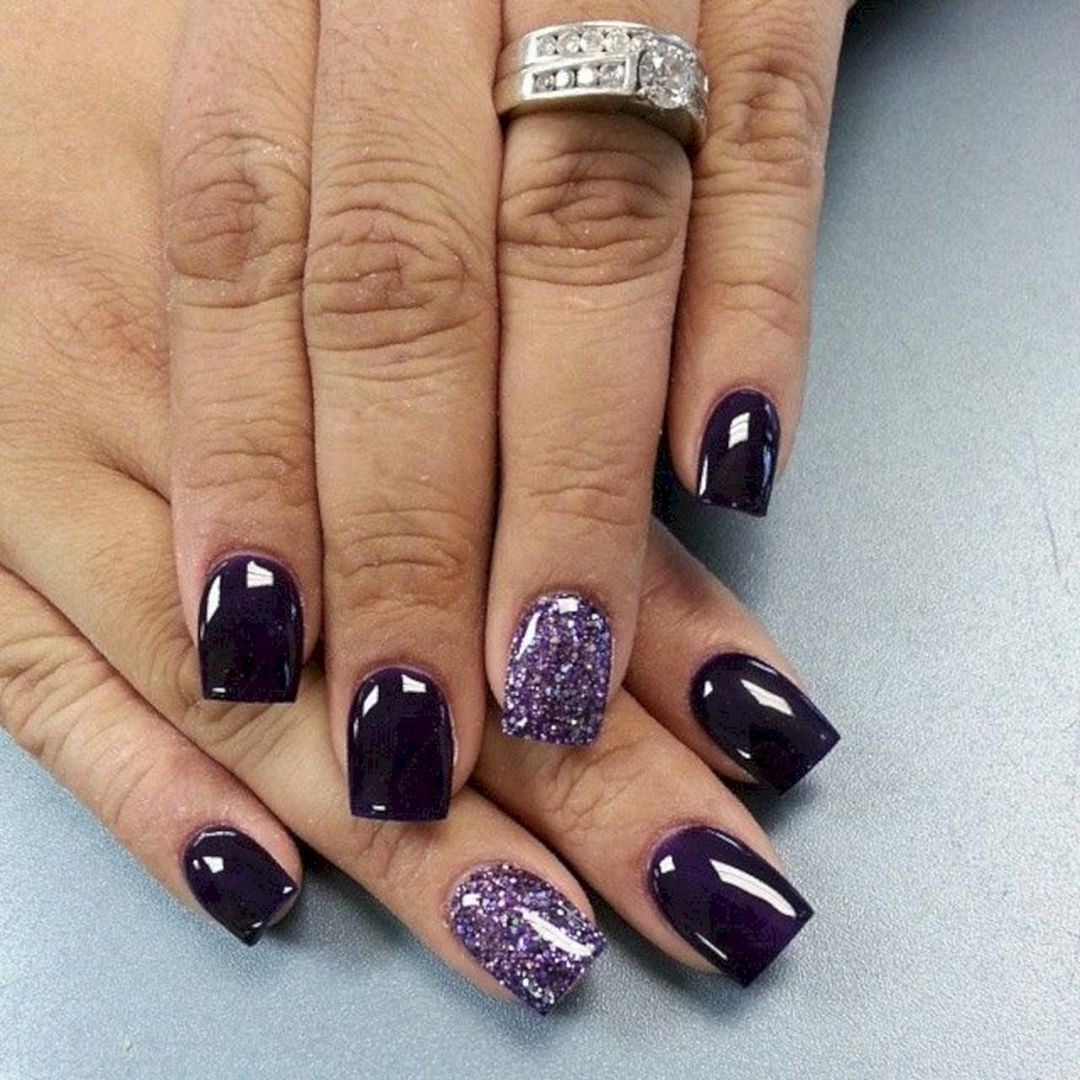 31 Most Beautiful Dark Nails Idea For Winter And Christmas | Dark ...