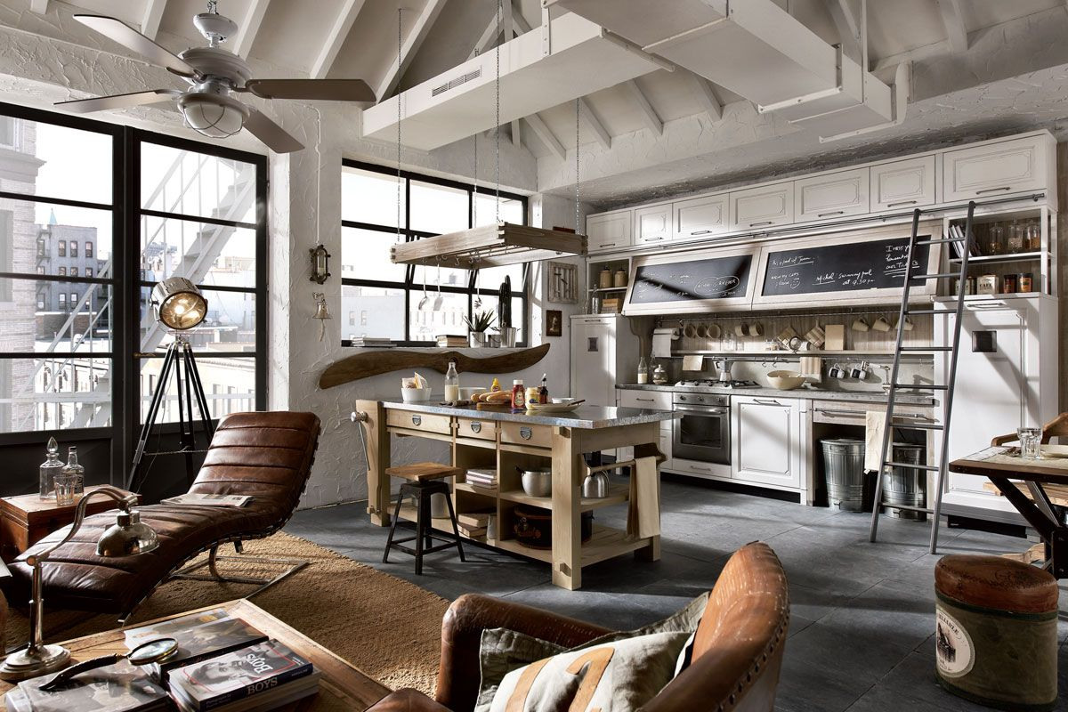 Marchi Group Keuken : Vintage chic kitchens from marchi cucine kitchens industrial