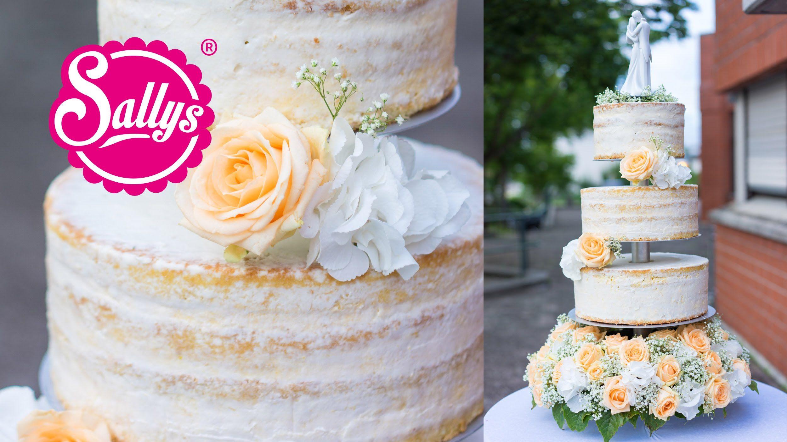 Hochzeitstorte dreist ckig naked cake eistorte mit pfirsich mango par kuchen torten - Hochzeitstorte dekorieren ...