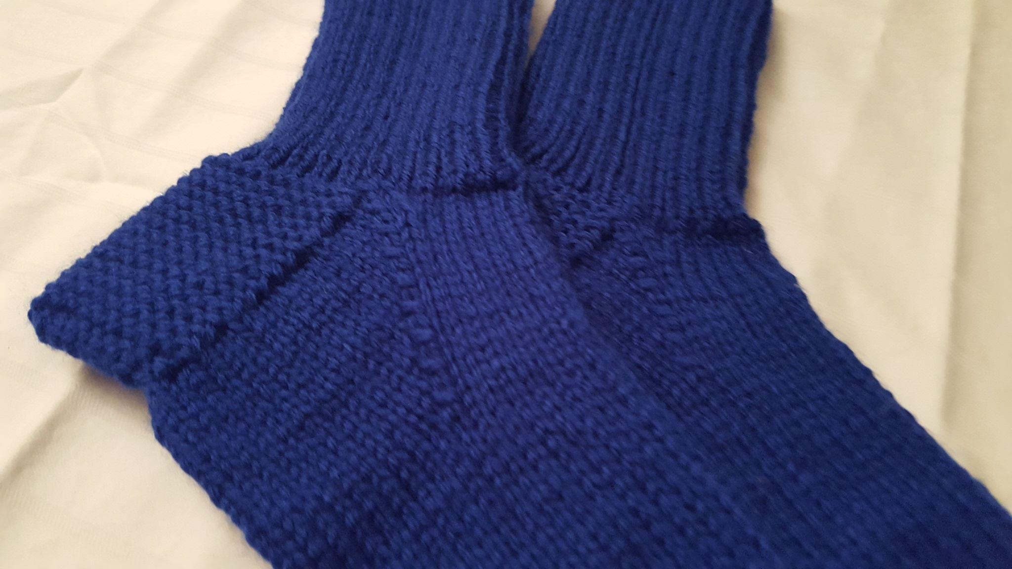 INDIGO Norwegian knitting technique, hand knitted socks
