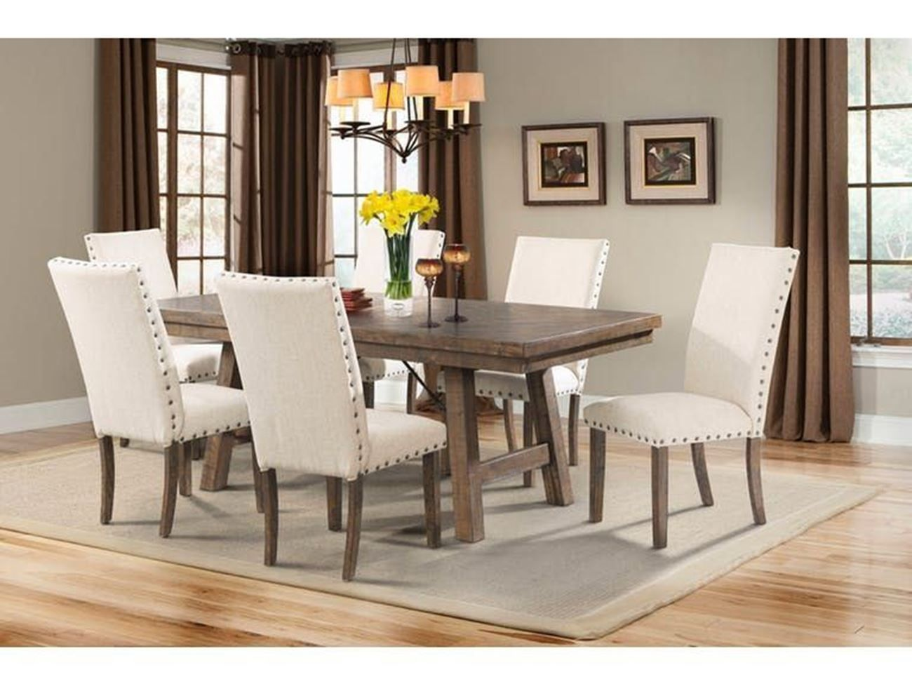 Jax Dining Table 4 Upholstered Side Chairs Dining Table