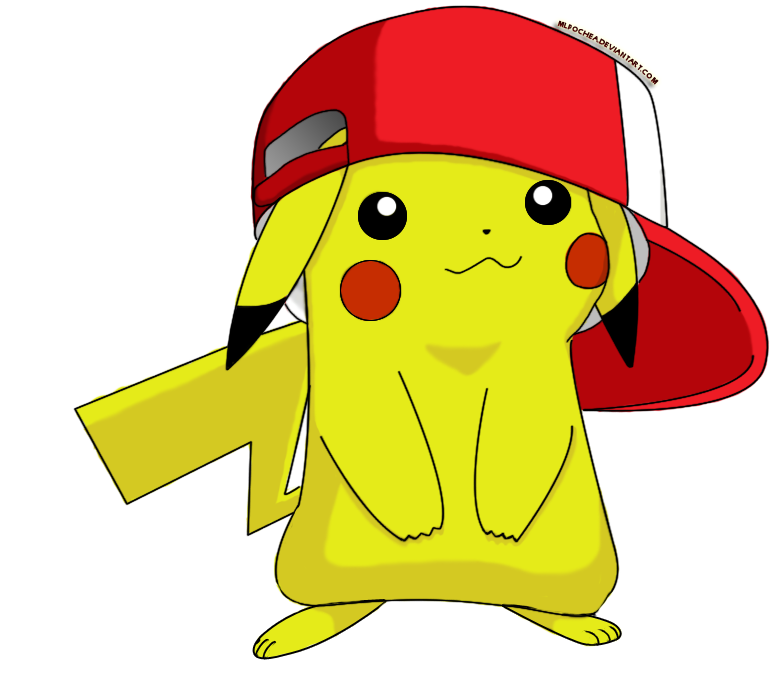 Cute Pikachu With Hat By Mlpochea On Deviantart Pikachu Wallpaper Pikachu Cute Pikachu
