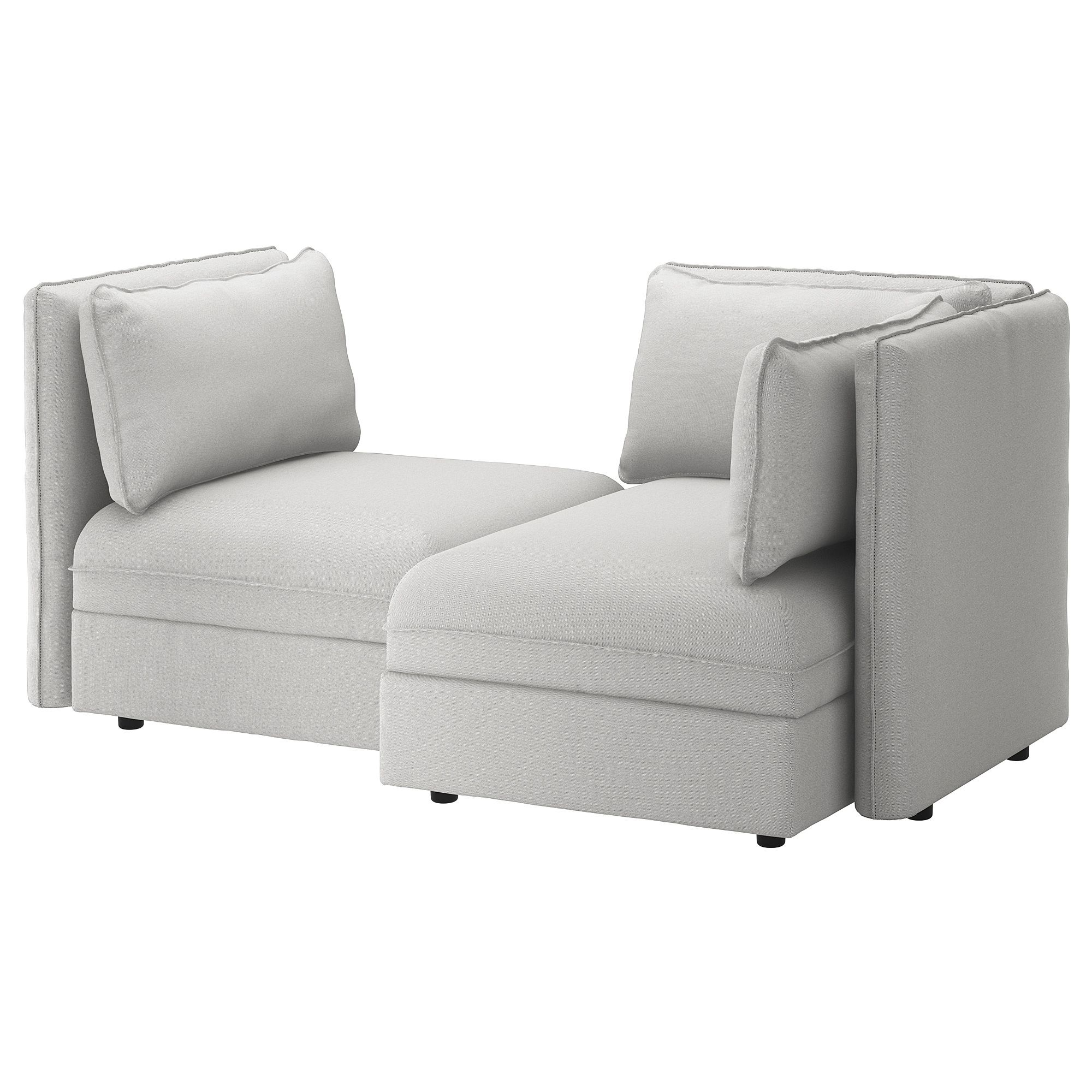 Loveseat Ikea Vallentuna Modular Loveseat With Storage Orrsta Light Gray