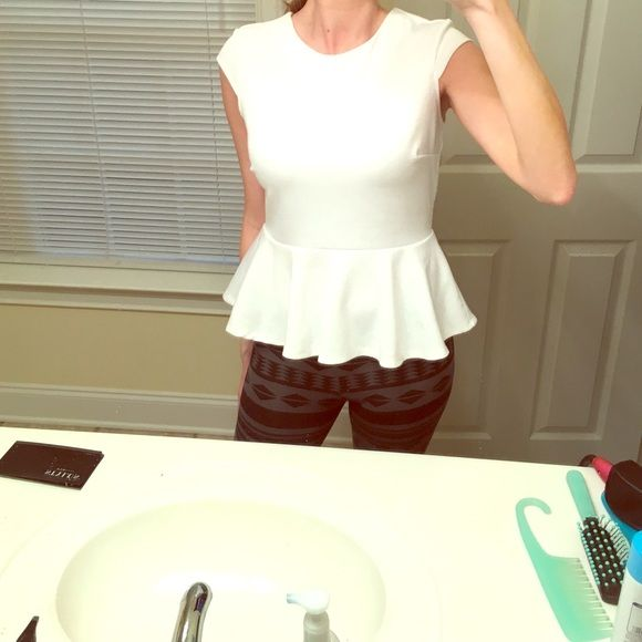 Additional photo of the White Peplum Top :) Tops