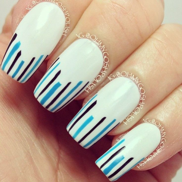 Top 10 Striped Nail Designs - Top 10 Striped Nail Designs Creative Nails, Nail Nail And Nail
