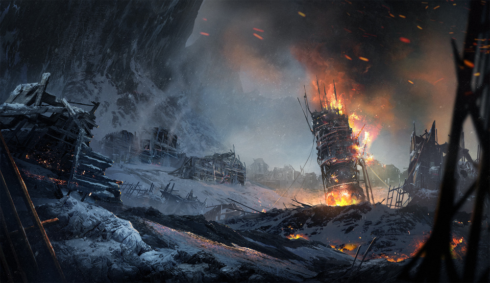 Frostpunk New Manchester By Https Www Deviantart Com Magdalenakatanska On Deviantart Game Art Video Game Art Hd Wallpaper