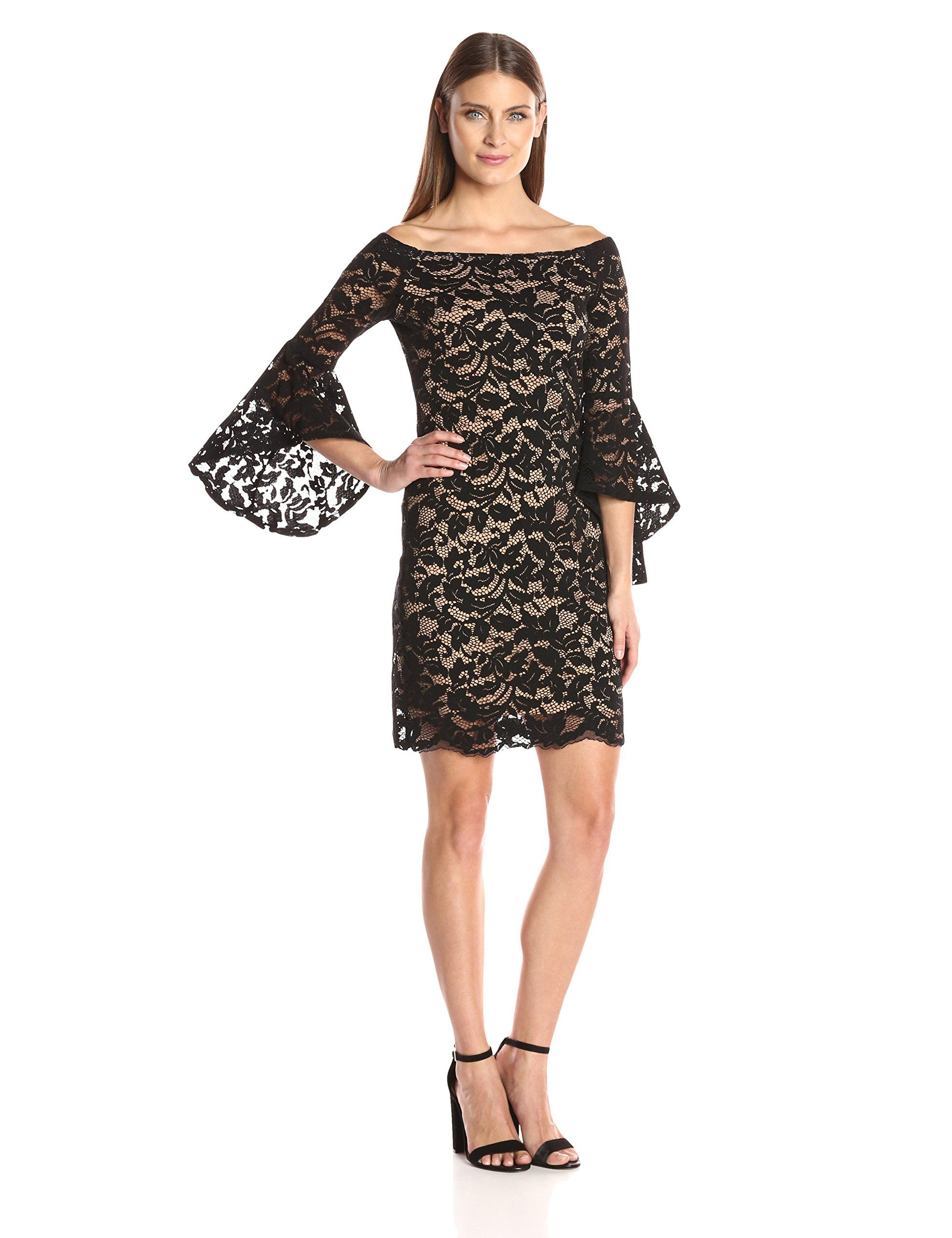 4346df6d6555 Karen Kane Womens Samantha Lace Dress Black Nude M     See this great  product-affiliate link.  dresses