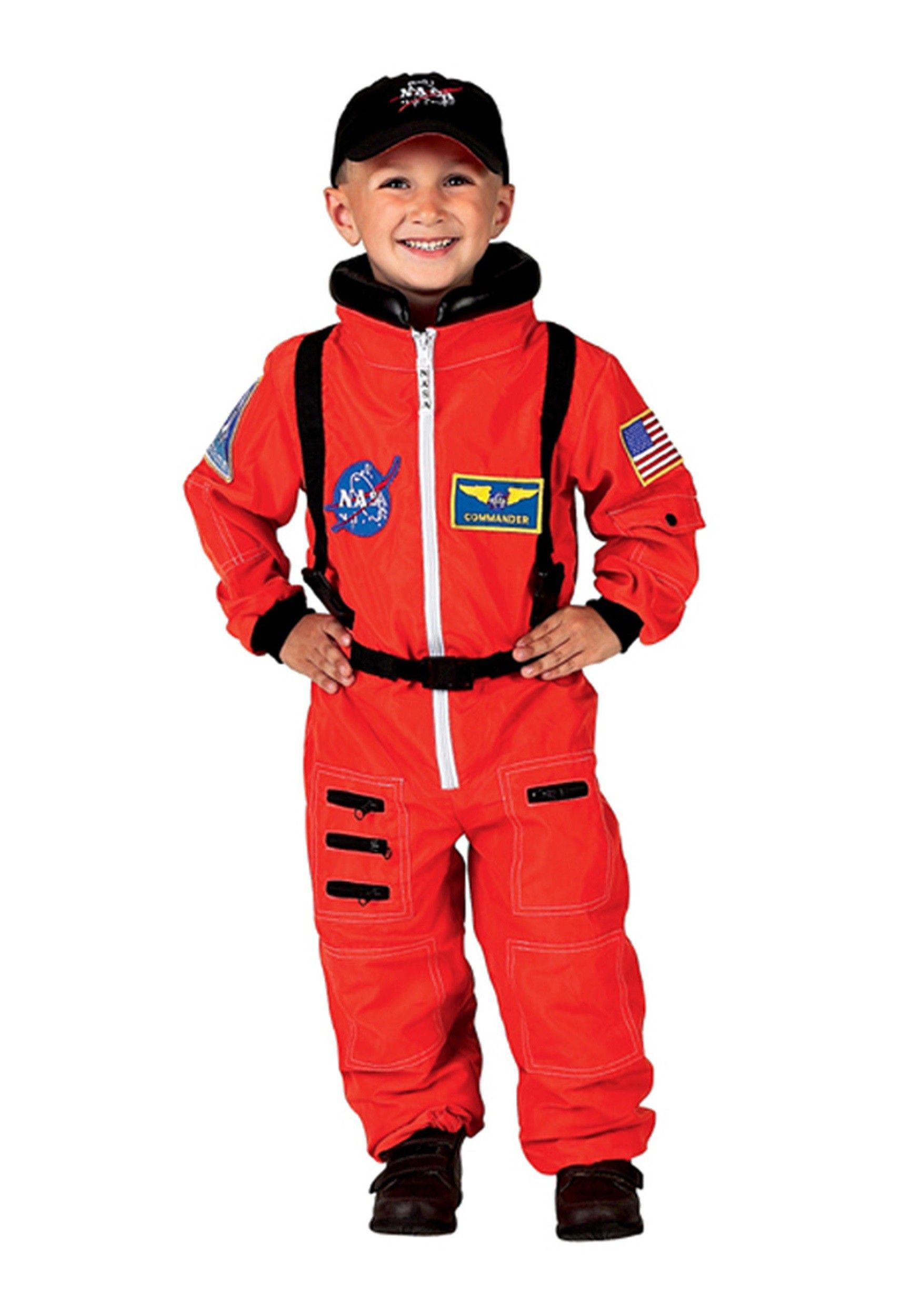 532ca0c1a424 Child Orange Astronaut Costume