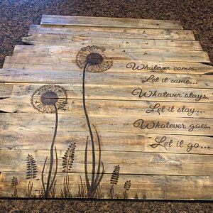 Löwenzahn Feld Wand Dekor | Distressed Blume Kunst inspirierende Holz Bild #kitchenrules