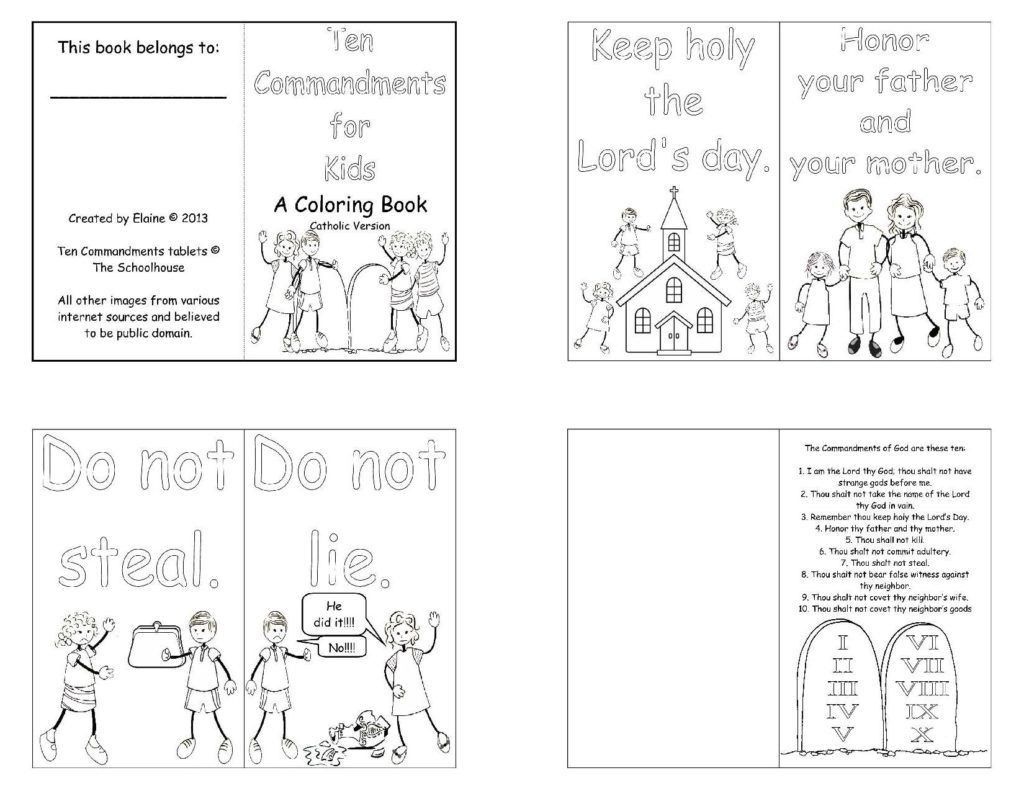 4 Catholic Printable Worksheets In