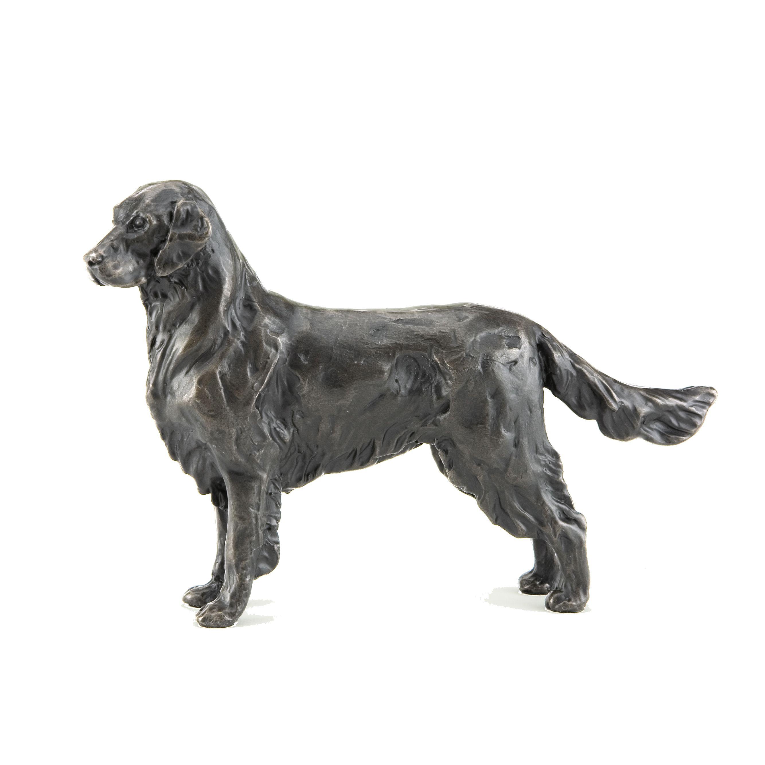 Bronze Sculpture Dog dog figure Retriever