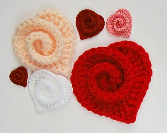 Crochet heart pattern instant download pdf pattern irish crochet