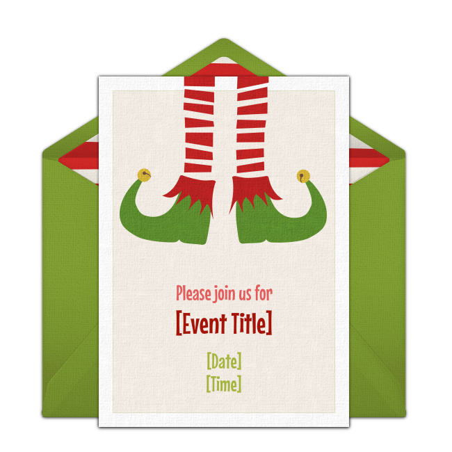 Free Christmas Elf Invitations – Free Christmas Party Invitation
