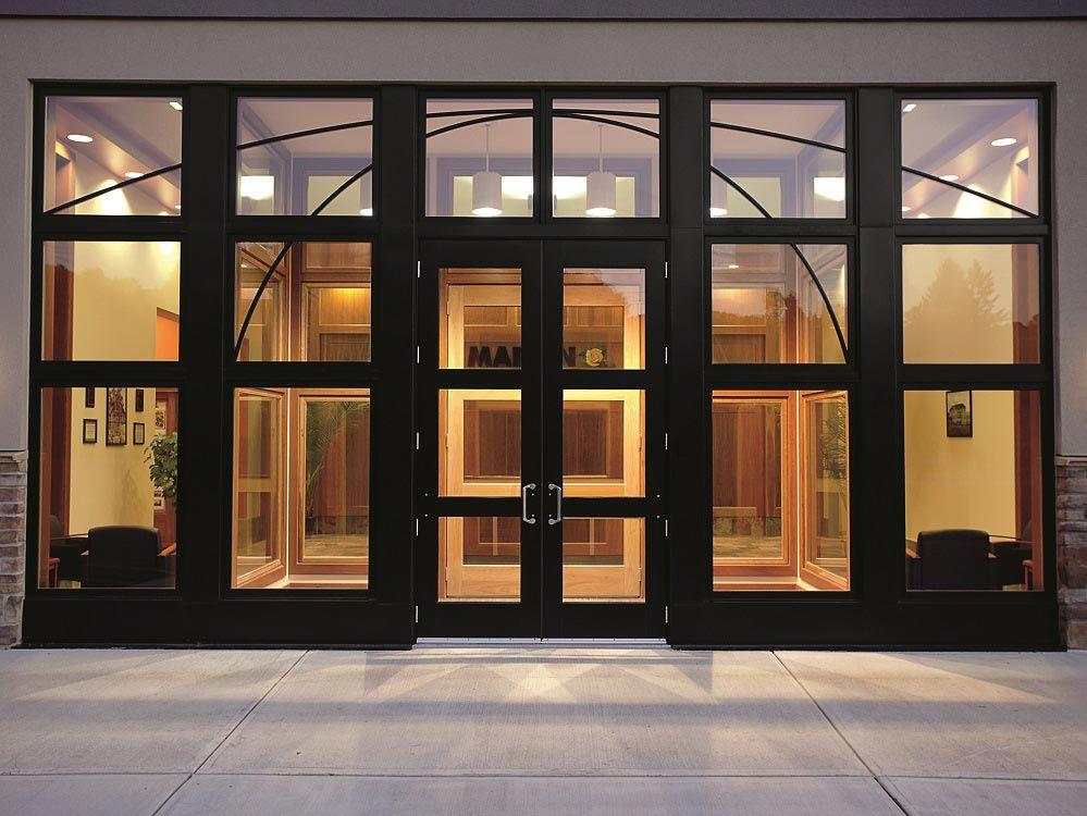 Marvin Commercial Door At Cortland Ny Storefront Glass Commercial Exterior Doors Commercial Entry Doors