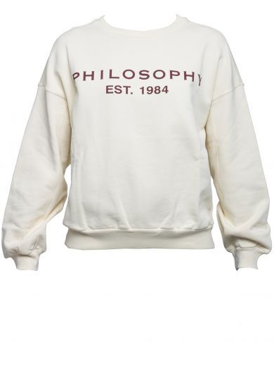 PHILOSOPHY DI LORENZO SERAFINI White Cotton Sweater. #philosophydilorenzoserafini #cloth #https:
