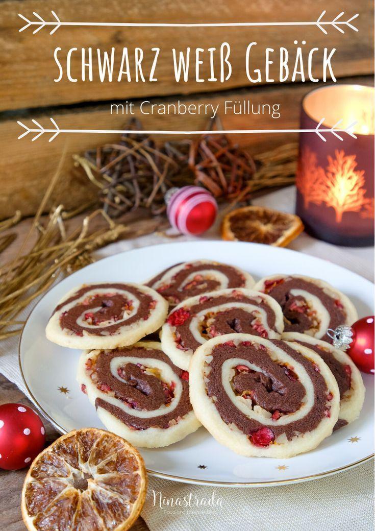 Klassisches Schwarz Weiß Gebäck Etwas Abgewandelt  – Weihnachten: Plätzchen, Kekse | Rezepte zum Backen