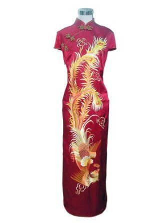 Chinese Silk Embroidered Phoenix Dress. If only I had the patience