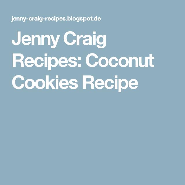 Jenny Craig Recipes: Coconut Cookies Recipe
