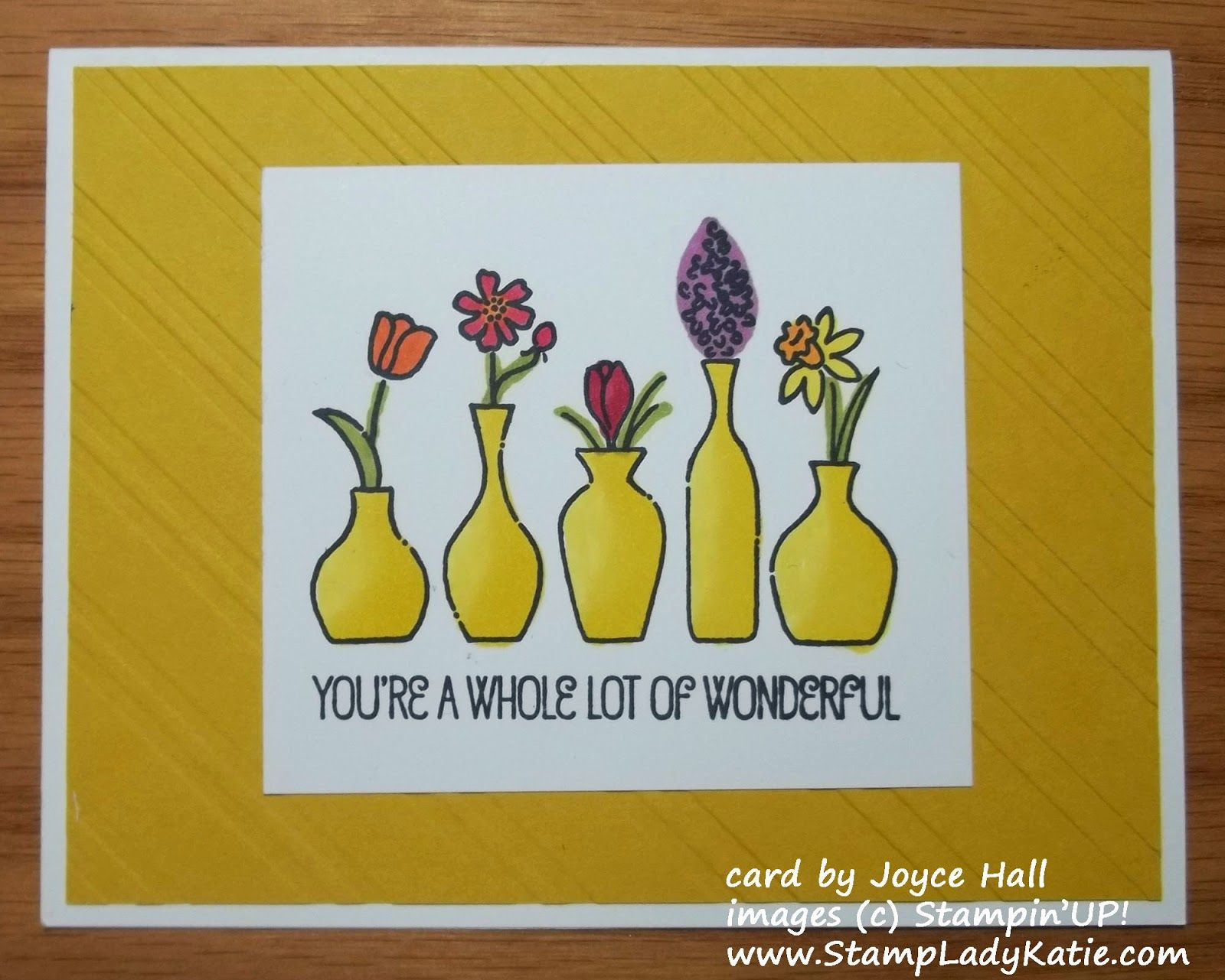 Blendabilities: the new alcohol markers. . . . Colors are blended so nicely - gives the image of a curve to the vases. #Blendabilities #AlcoholMarkers #Stampinup #VividVases