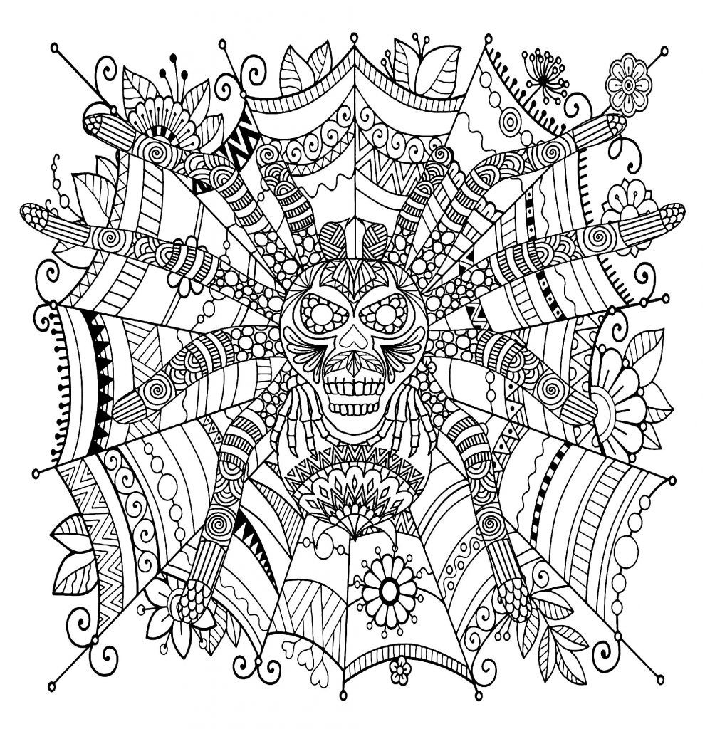 Spiders coloring pages | Free Coloring Pages | 1024x990