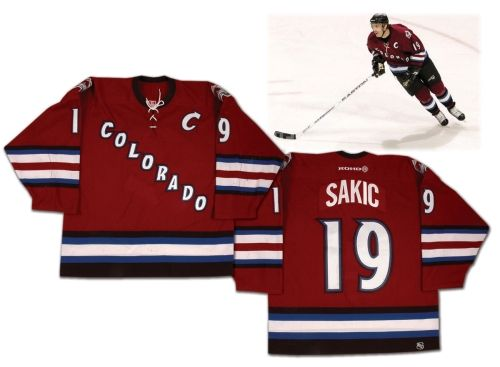 size 40 ab2b6 547db Joe Sakic 2002-03 Colorado Avalanche Game-Worn Alternate ...
