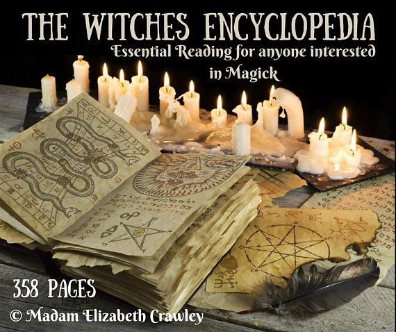The Witches Encyclopedia RARE! 358 Pages of Essential Information For Anyone Interested in Magick Book Of Shadows Grimorie eBook Download #greenwitchcraft