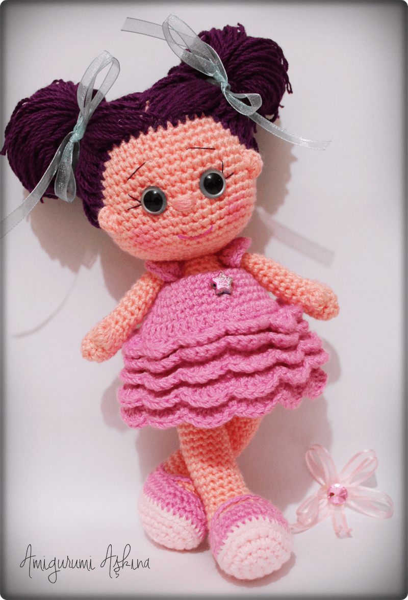 Amigurumi Star Doll Pattern : Amigurumi Yildiz Bebek- Amigurumi Star Doll Tiny Mini ...
