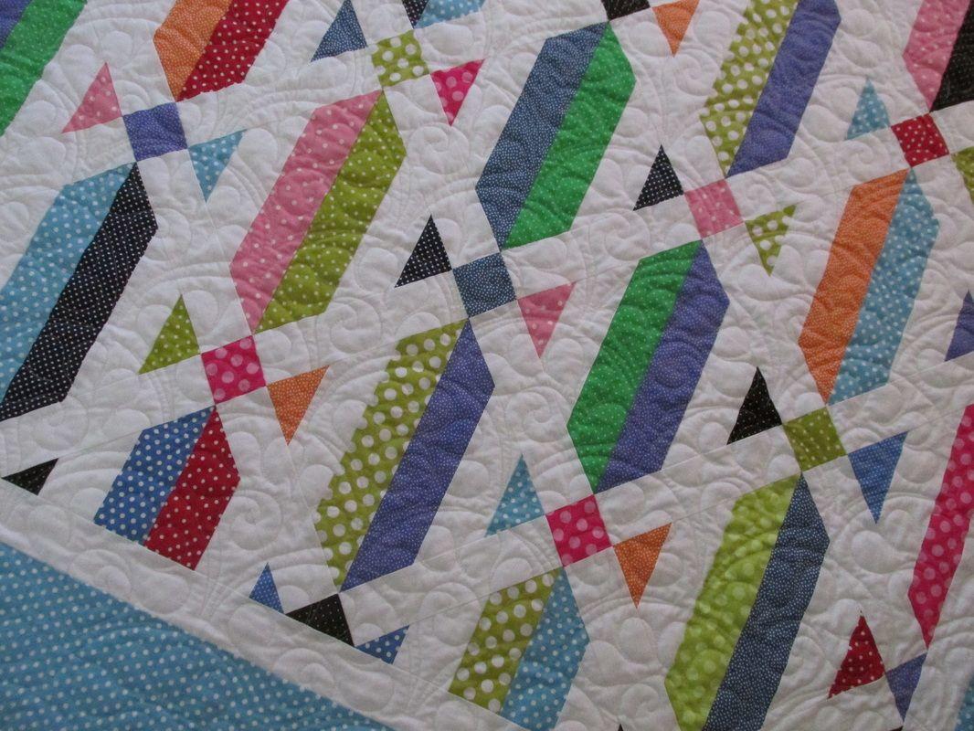 Tube Cake polka dot quilt using the Strip Tube ruler. | quilting ... : tube quilt pattern - Adamdwight.com