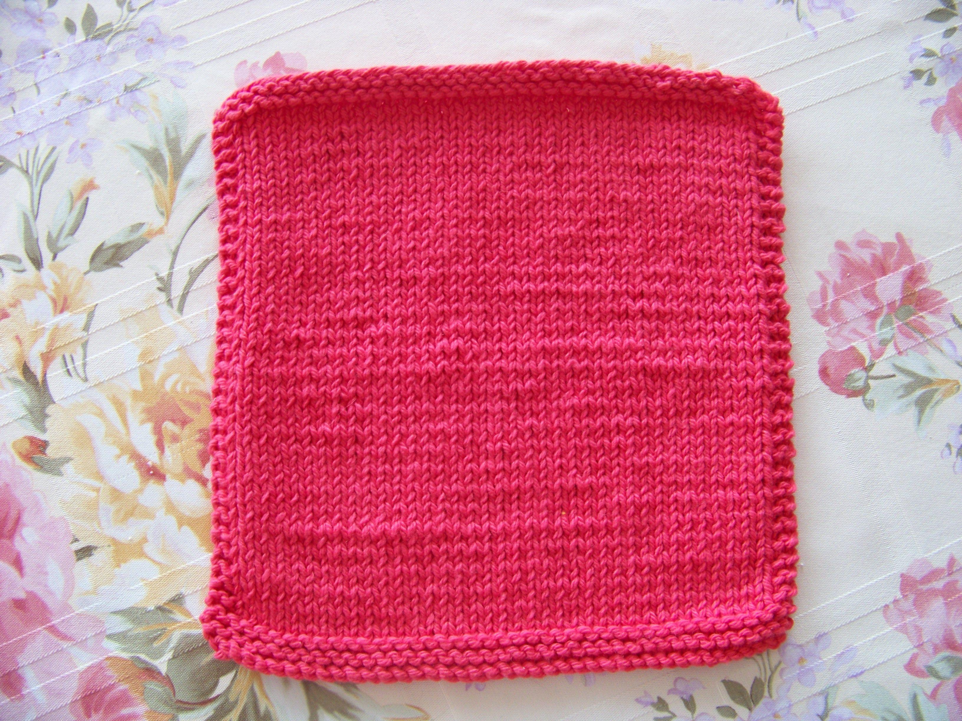 Knitting Bias Stockinette : Stockinette knitted dishcloth ″x ″ size needles co