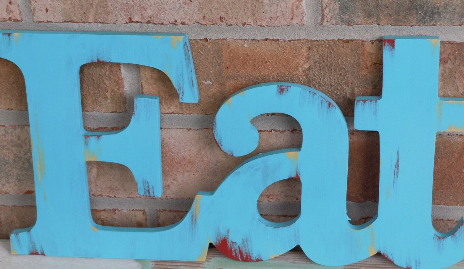 Eat Word / Vintage Inspired / Rustic Kitchen Decor / Shabby Letters ...
