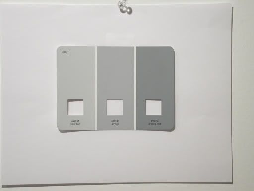 valspar drizzling mist colours from left to right