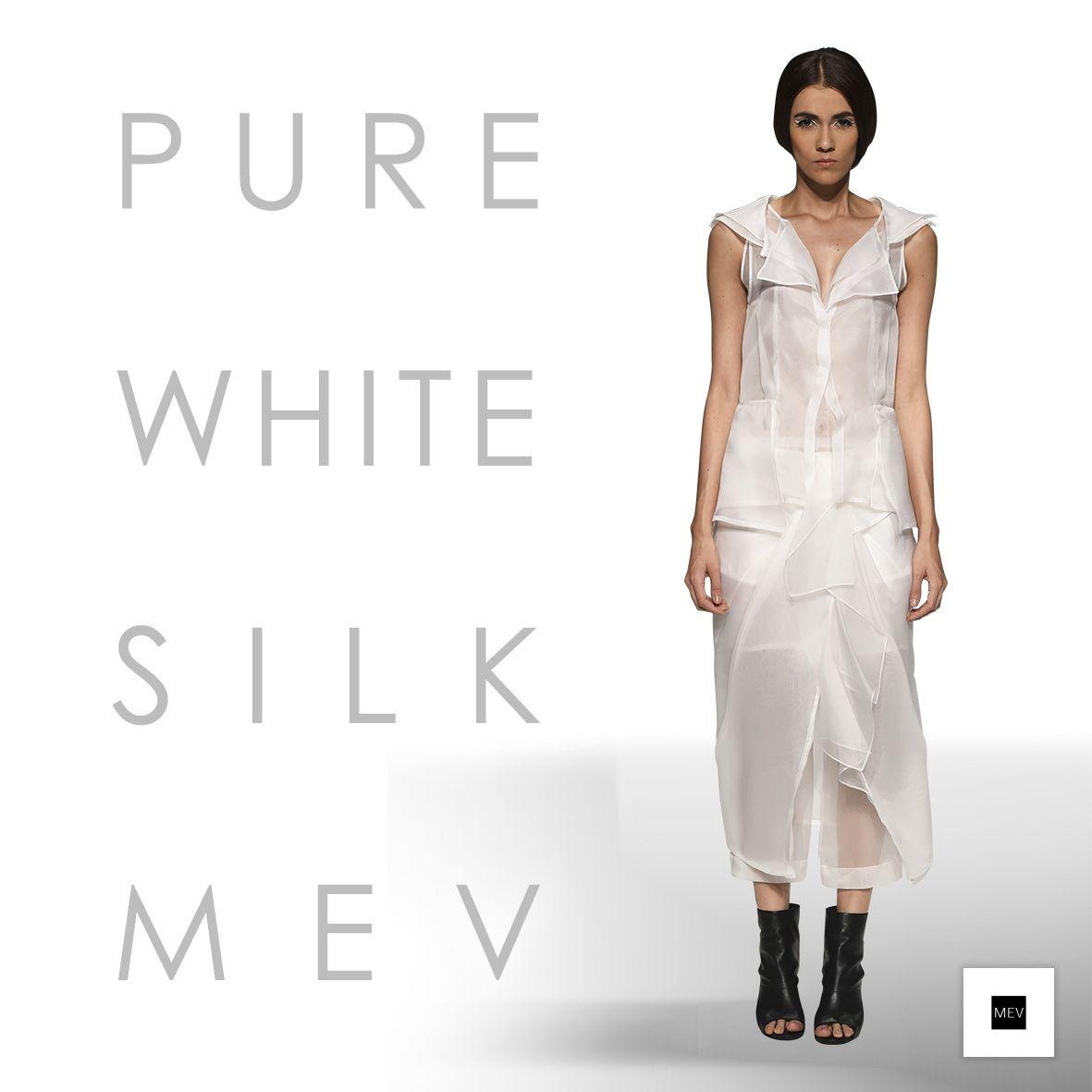 Primavera Verano 2015 PURE WHITE SILK MEV