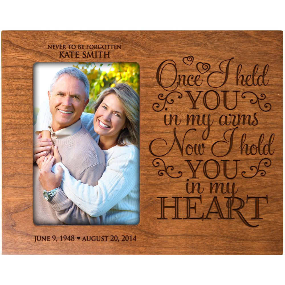 Personalized memorial giftin memory of mom and dadwedding personalized memorial giftin memory of mom and dadwedding memorial picture frame jeuxipadfo Choice Image