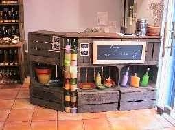 Avec Des Caisses De Pommes Caisse Pomme Mobilier De Salon Bar