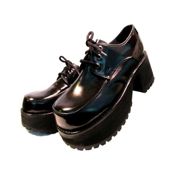 Black leather shoes men