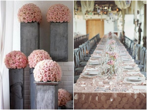 Romantic Blush and Grey Wedding ideas | Grey weddings, Decoration ...