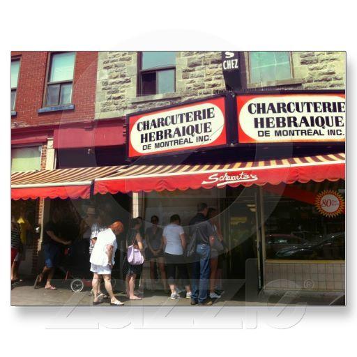 Schwartz S Deli Montreal Quebec Postcard Zazzle Com Montreal Quebec Montreal Quebec