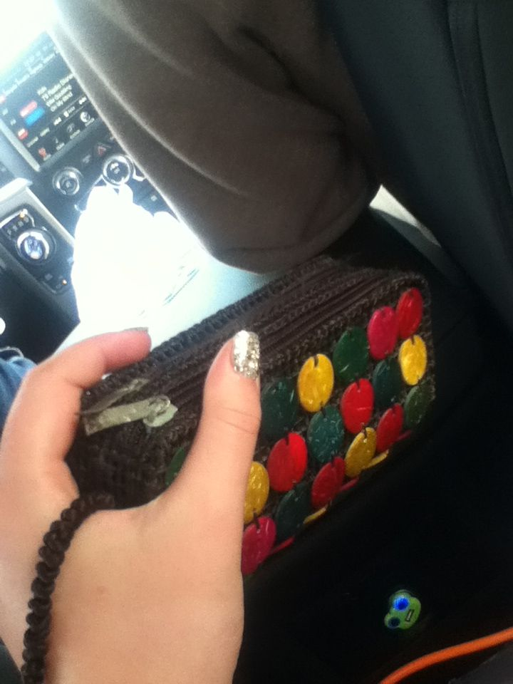 This is a cute clutch!#from  Punts Cana:)