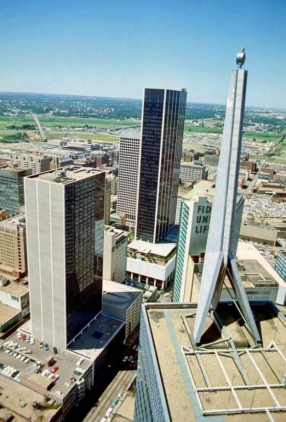 This Picture Is From The Republic Bank Tower Downtown Dallas Texas In 1968 The First National Bank Building In The C Downtown Dallas Dallas Skyline Dallas