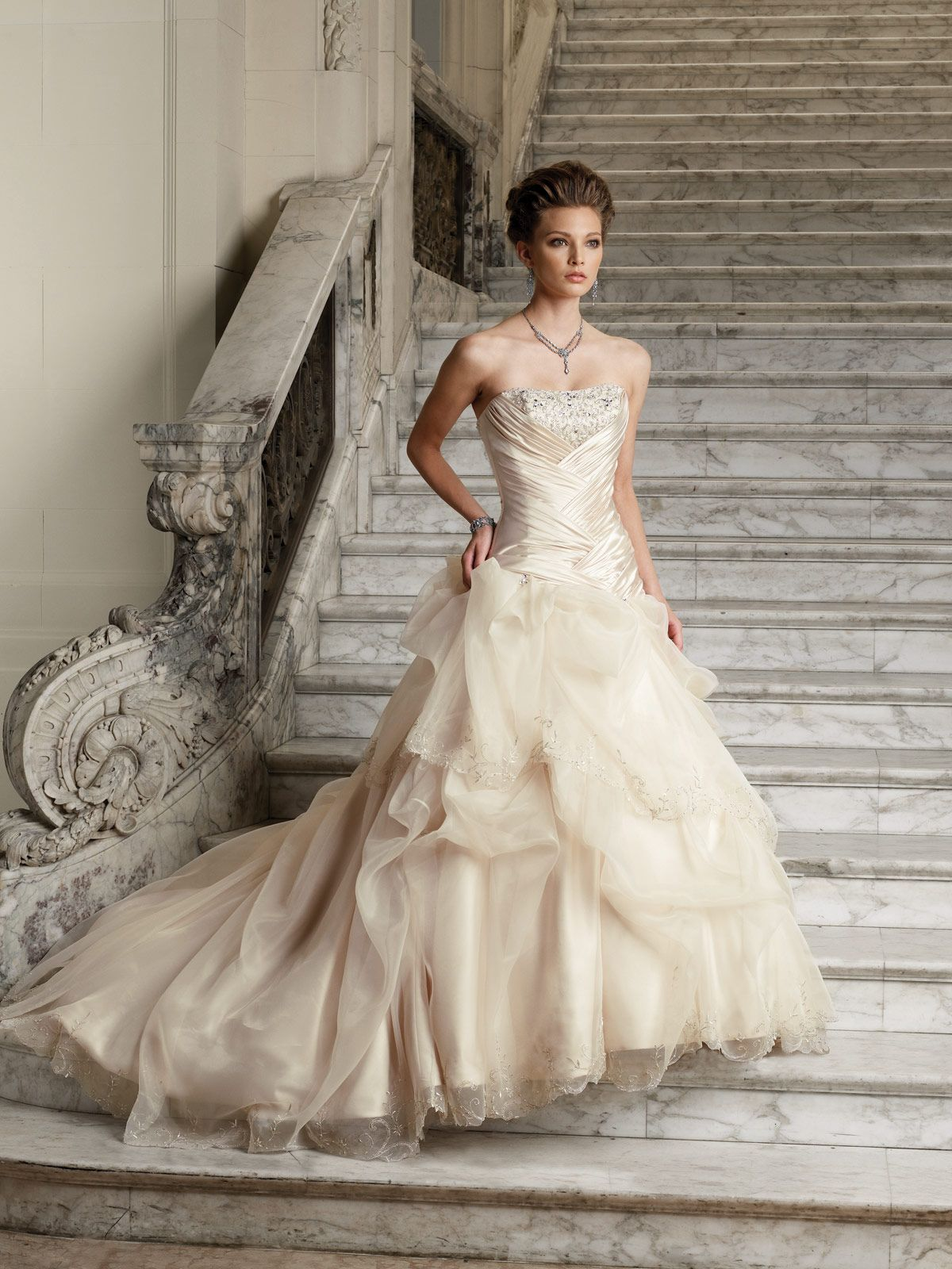 Designer Wedding Dresses by Sophia Tolli | Gallery. I love the criss ...