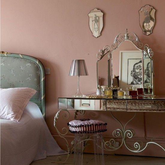 Romantische feminine Schlafzimmer Wohnideen Living Ideas - wohnideen selbermachen schlafzimmer