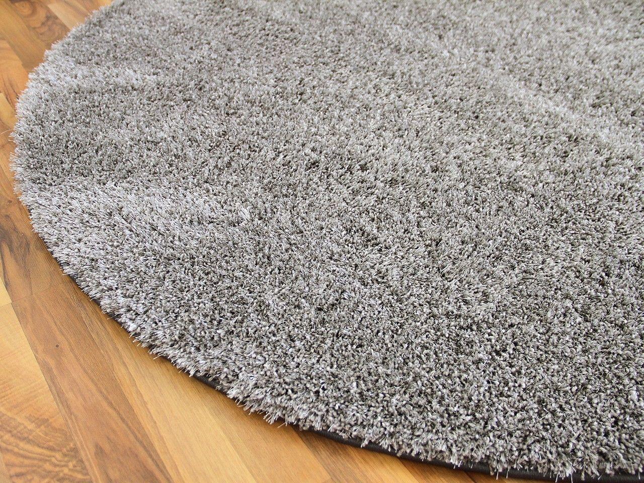 Hochflor Shaggy Teppich Luxus Feeling Mix Silber Rund In 7 Grossen Teppiche Hochflor Langflor Teppiche Schwarz Grau Teppich Schwarzer Teppich Langflor Teppich