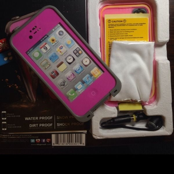 New Waterproof Lifeproof For Iphone 4/4s Pink #shopsmall BUY NOW $40.00
