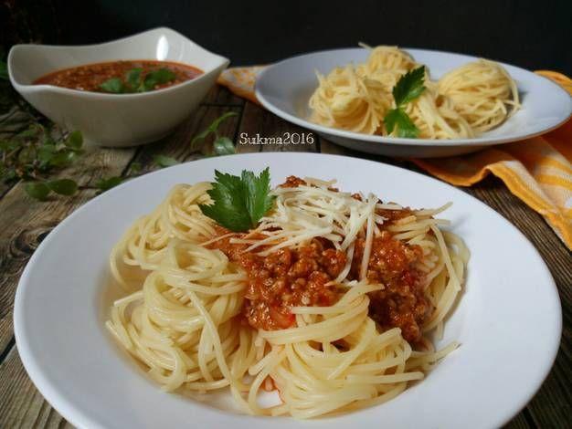 Resep Spaghetti Bolognese Simpel Oleh Sukmawati Rs Resep Spageti Makanan Spaghetti