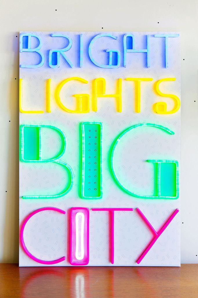 Bright Lights Big City T Lights Neon Signs Retail Signage
