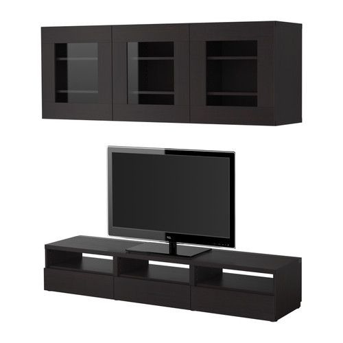 best tv m bel kombination schwarzbraun ikea home pinterest schwarzbraun tv m bel. Black Bedroom Furniture Sets. Home Design Ideas