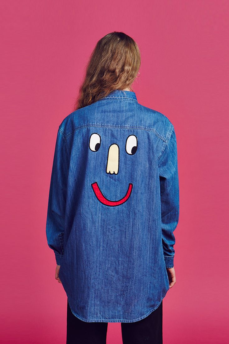 e245725d2046 Browse Lazy Oaf s men s   women s clothing. Watch Your Back Denim Shirt